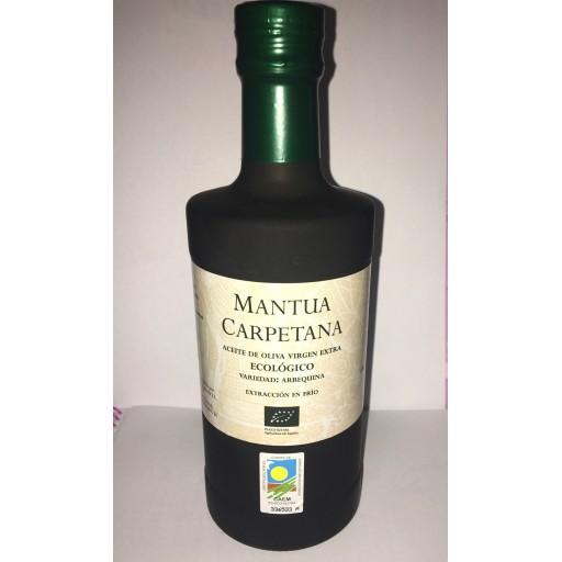 MANTUA CARPETANA -ARBEQUINA Aceite oliva ecologico madrid 500 ml
